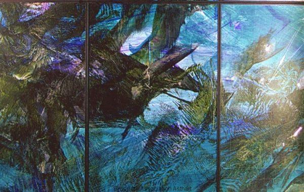 Bruissement d'ailes bleu